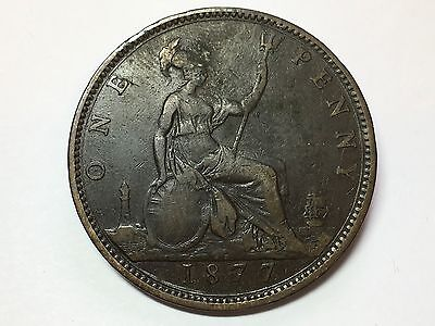 1877 Victoria One Penny
