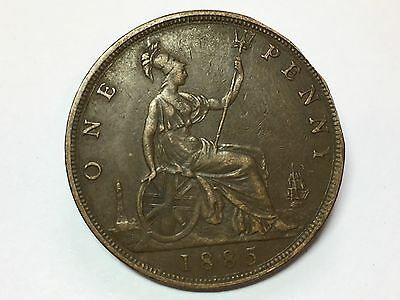 1885 Victoria One Penny