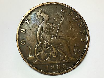 1888 Victoria One Penny