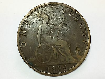 1892 Victoria One Penny
