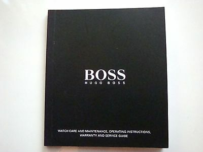 Hugo Boss Watchcare Maintenance Instructions Warranty And Service Guide Book
