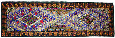 Beautiful Indian Wall Hanging Decor Gujarati Patch Work Embroider Wall Tapestry