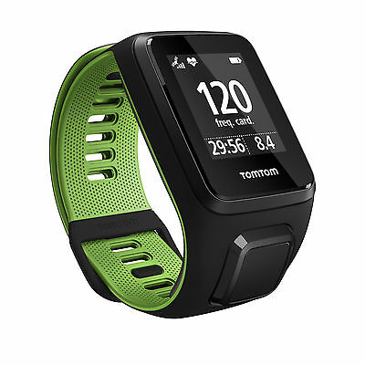 Os. 269186 Tomtom Runner 3 Cardio Gps Running Watch Black/green L
