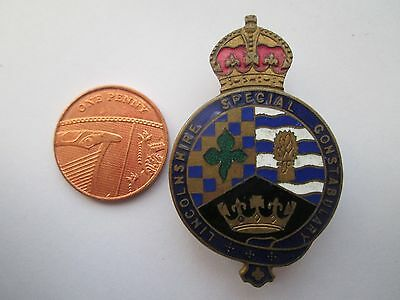 Enamelled Lincolnshire Special Constabulary Badge