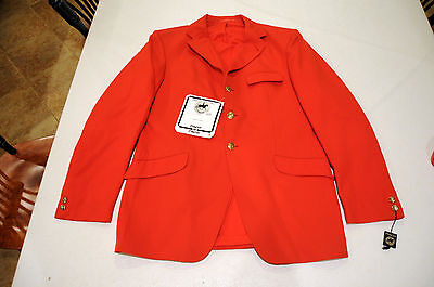 Pikeur NEW hunt coat jacket MENS 42 foxhunting Pink Red Pinque