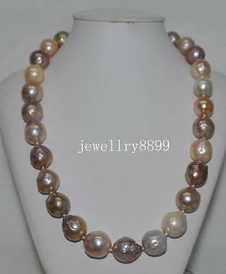 RGEOUS! Natural Rare Multicolor 15*17mm KASUMI PEARL NECKLACE J16255
