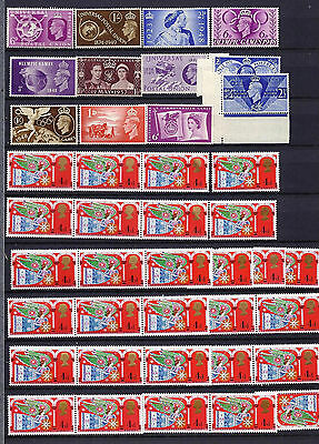 GB stamps,Pre decimal pictorials, Unmounted/Mounted Mint