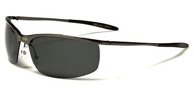 New Mens XLOOP Polarized Semi Rimless Gun Metal Designer UV400 Sunglasses 57