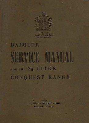 Daimler conquest and consort workshop manuals + loads of other Daimler manuals