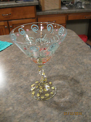 Hand Painted Martini Glass - Chocolate Makes Everything Better Twisted Stem