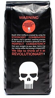 Death Wish Coffee, The World's Strongest Ground Coffee Beans, Fair Trade and 16