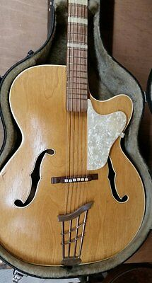 WOLFGANG HUTTL VINTAGE ACOUSTIC ARCHTOP GUITAR, 1960s
