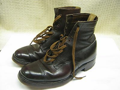 WW2 British Army Officers Leather Boots Repro Size 8