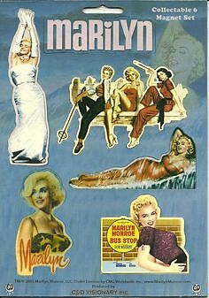 MARILYN MONROE 6 magnets 2005 COLLECTABLE MINI MAGNET SET