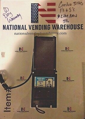 Conlux NBM-3120 Refurbished Vending Bill Validator with Warranty Accepts 1s, 5s