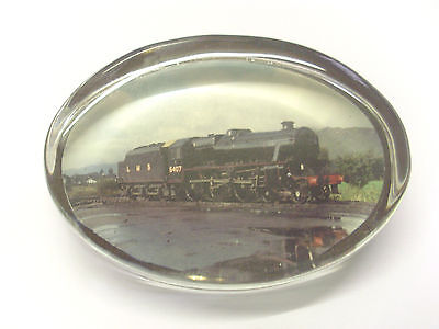 L.m.s.5407 Glass Paperweight Photo Taken At Carnforth M.p.d. At End Of Steam