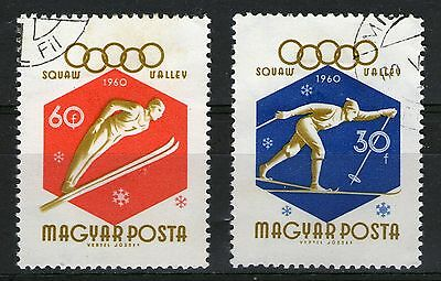 Hungary 2 1960 Winter Olympic Games Squaw Valley - Used