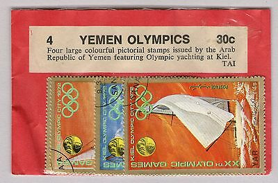 Yemen 1972 Set of 4 Olympic Stamps Unopened pack