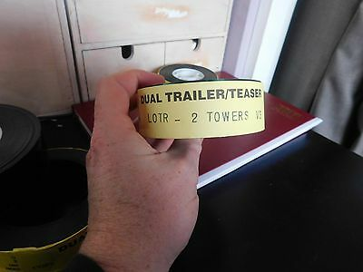 Lord of the Rings 2 towers  99p start Rare  35mm CINEMA MOVIE FILM TRAILER CELL