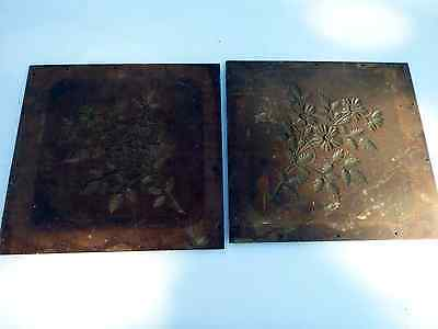 Antique wood carved panels