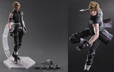 Play Arts Kai Final Fantasy XV PROMPTO ARGENTUM Action Figure Statue New in Box