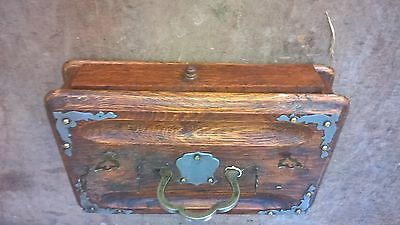 Victorian Desk Tidy Ink Stand  With Drawer