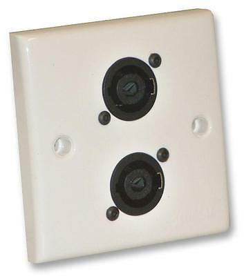 Audio Visual PSG08155 WALL PLATE 2X XLR SOCKETS Wall Plates and Floor Boxes