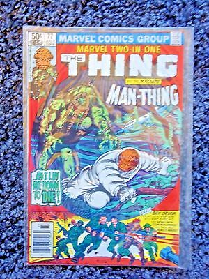 MARVEL TWO IN ONE(1981) #77 Thing Man-Thing 1 Sgt Fury Howling Commandos