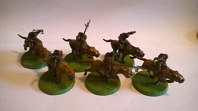 Lord Of The Rings 11X Warg Riders - Plastic Rare Oop
