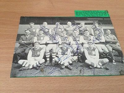Northampton Town. Autographed Team Picture.