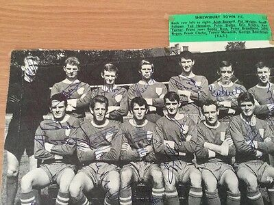 Shrewsbury Town. Autographed Team Picture.