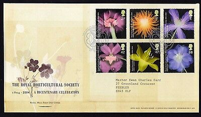 First Day Cover....The Royal Horticultural Society  (25th May 2004)