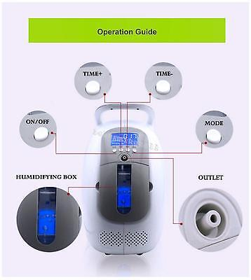 24 Hours Home USE Portable Oxygen Concentrator Generator Machine Romote Control