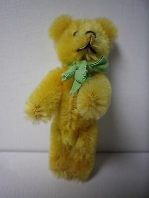 """3 1/2"""" Vintage Schuco Jointed Gold Teddy Bear"""