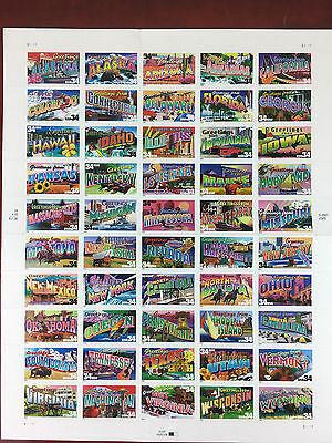 Greetings from 50 State Stamp Sheet .34 cent  $17.00 Face  562300