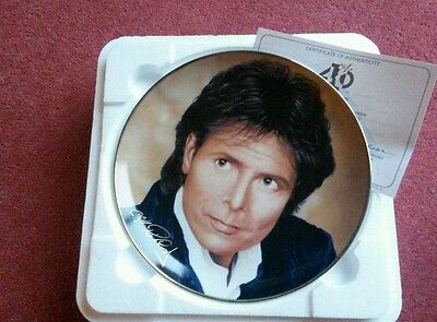 Cliff Richard Collectors Plate 40 Glorious Years -Green Light & Cert Danbury