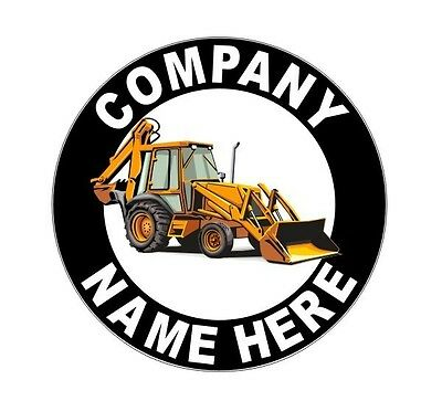 """2 Personalized 12"""" Backhoe Front End Loader Decals for Truck Doors or Bucket"""