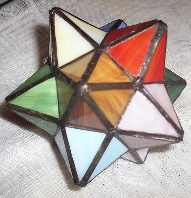 Stained glass 3 D star.