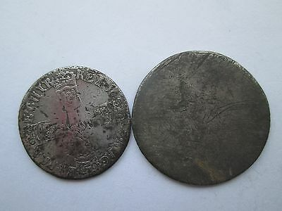 17th CENTURY  SILVER COINS - GAP FILLERS .