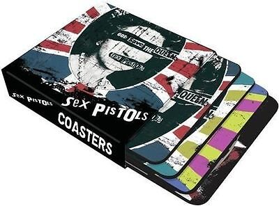 NEW SEX PISTOLS God Save The Queen Boxed Set of 4 Retro Punk Drinks Mat Coasters
