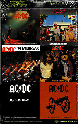 AC/DC 6 magnets Official  COLLECTABLE MAGNET SET