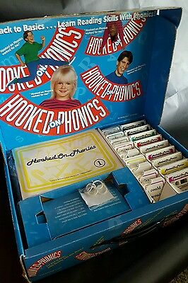 Large Hooked on Phonics Learn Reading Complete Audio Casssette & Book Set 1995