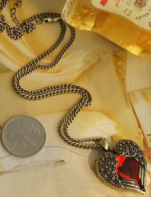 Fashion Charm jewelry Heart wings Crystal vintage long Pendant Chain Necklace 85
