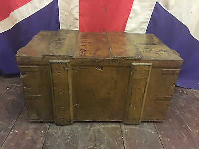 Antique 1920s Royal Air Force Trunk Box Chest Pine Oak Toys Army Military
