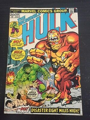 Incredible Hulk#169 Awesome Condition 7.0 1st Bi-Beast Appearence(1973) Trimpe !
