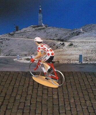 Cycling figure of Toni Rominger King of Mountains Tour de France jersey 1993