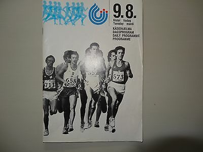 First World Athletics Championships Programme 1983