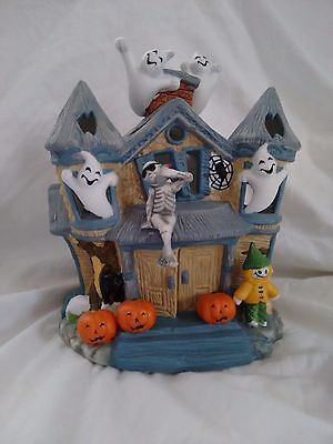 Partylite Haunted House Tealight Holder P7311 Ghosts Skeletons