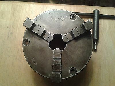 "6"" Cushman 3-Jaw Lathe Chuck with 2.25"" x 8 tpi back plate"