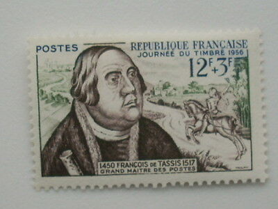 France 1956 Stamp Day Francis Of Taxis  Mnh  Sg1279
